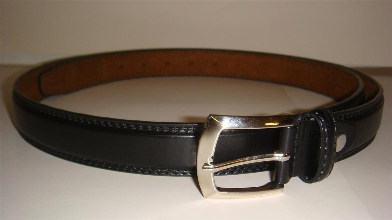 big and black leather belt 1 inch wide available