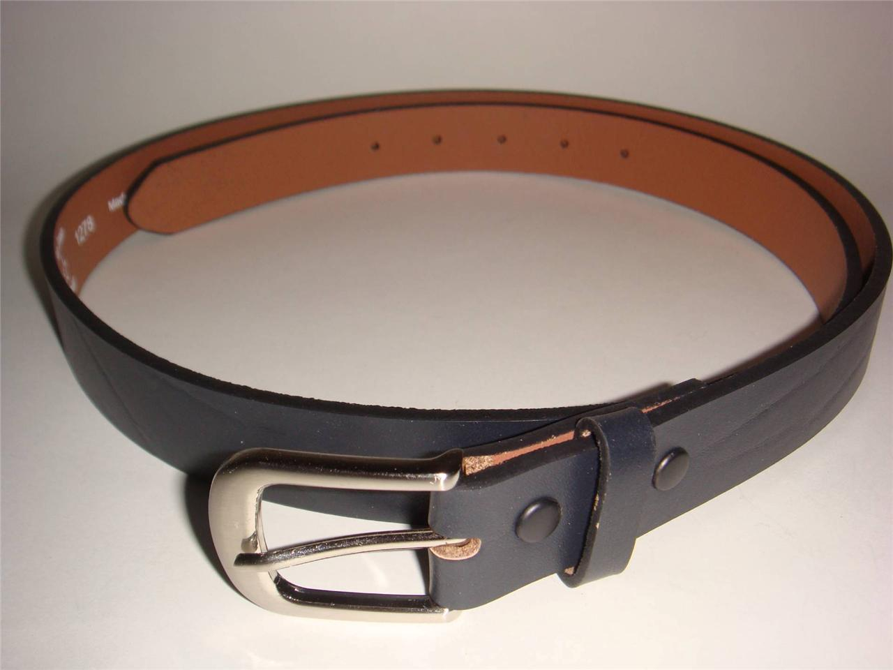 high quality big top grain leather belt 1 2 inch wide