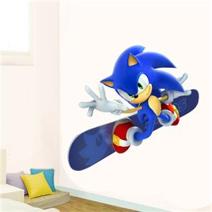 huge wall sticker sonic the hedgehog game gift mural art sonic riders the hedgehog decal removable wall sticker