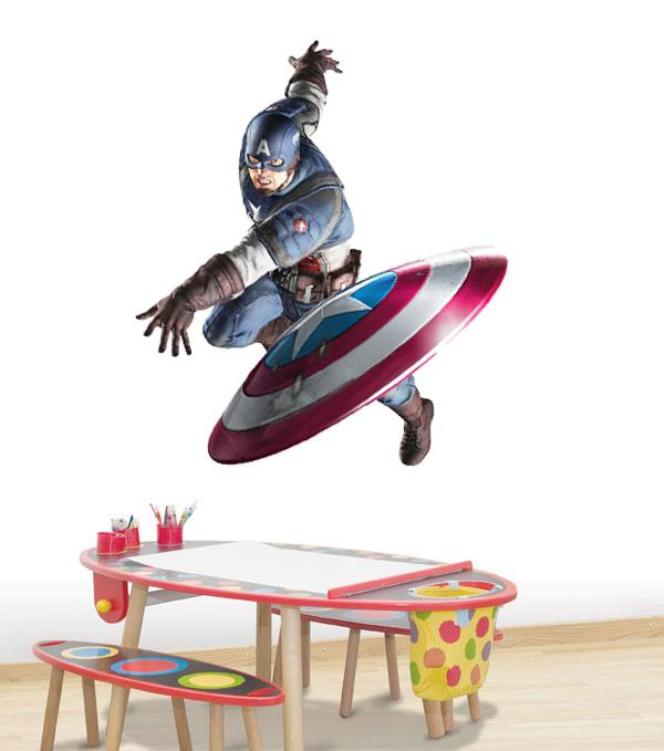 Choose Size Captain America Wall Sticker Decal Video Art