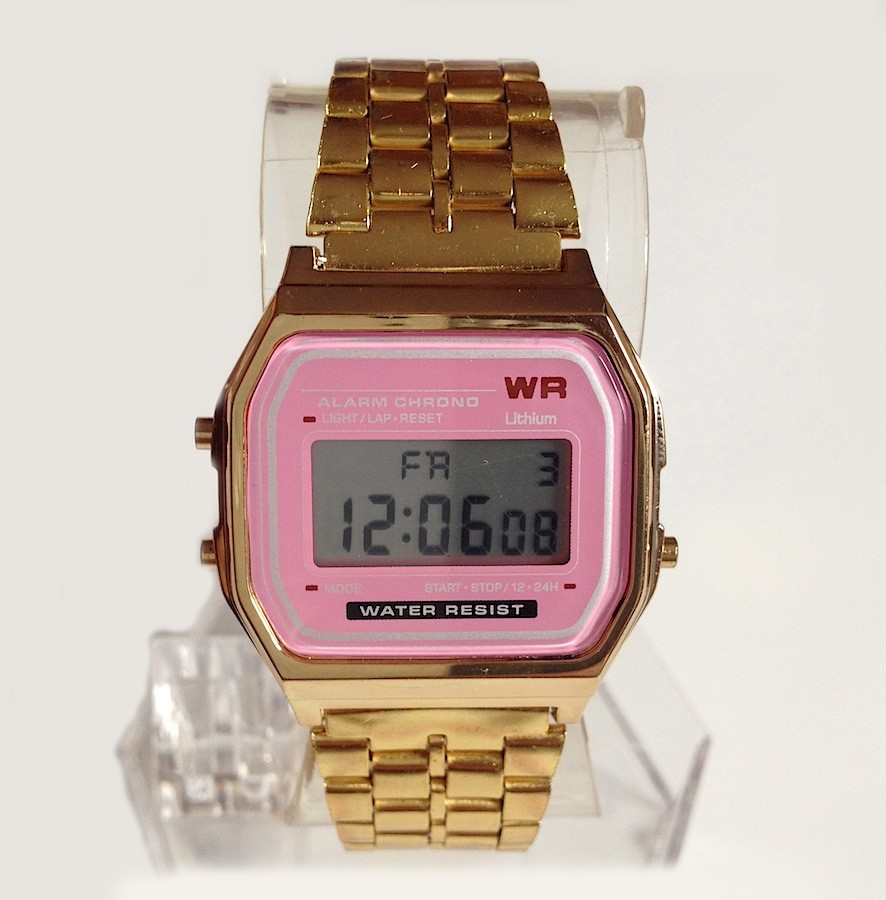 classic gold metal fashion vintage digital display