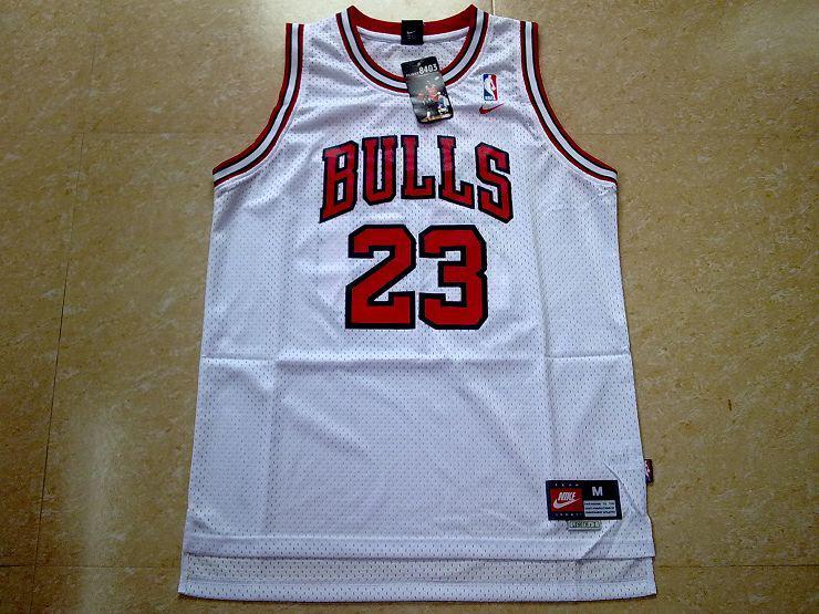 MICHAEL-JORDAN-Chicago-Bulls-jersey-SWINGMAN-White-23