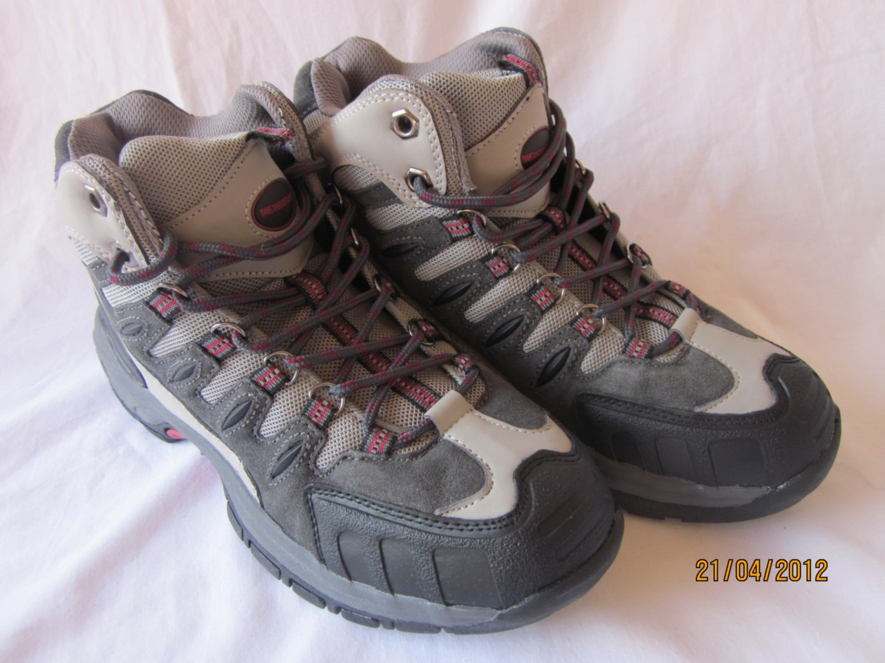 Mens Leather Hiking Ankle Boots Grey - Lake (Mens Boys)