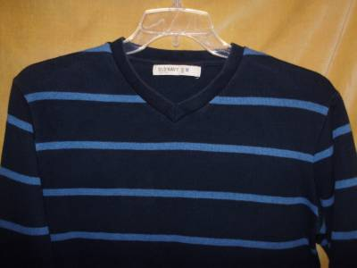 Details about Old Navy v-neck long sleeve blue striped sweater size