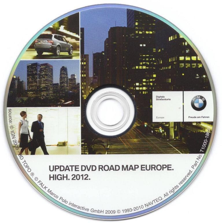 BMW High Sat Nav Disc DVD Europe 2012 E46 E38 E39 E65 E66