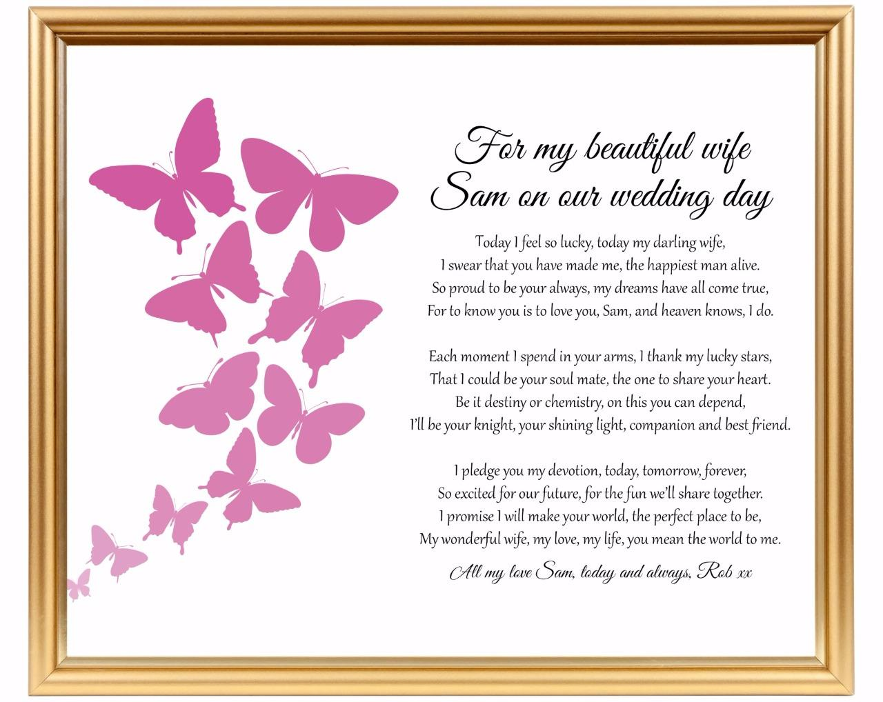 Wedding Gift Check Payable To : Wedding gift for wifeGroom to bride giftPersonalised keepsake ...