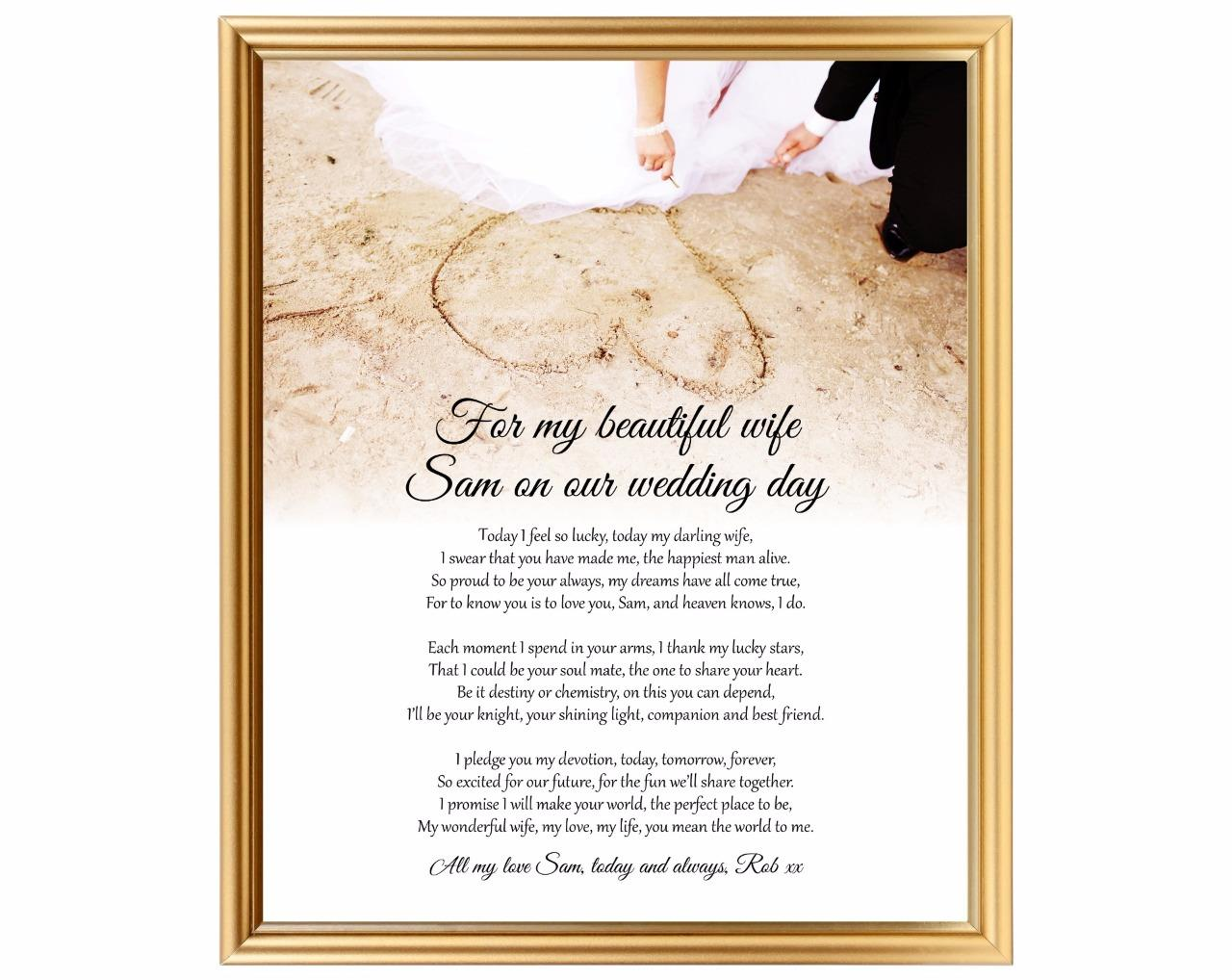 Wedding Gift For Groom From Wife : Wedding gift for wife - Groom to bride gift - Personalised keepsake ...