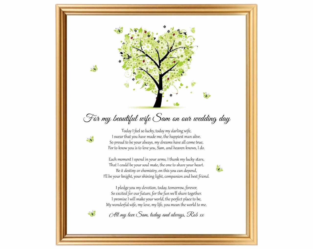 Wedding gift for wifeGroom to bride giftPersonalised keepsake ...
