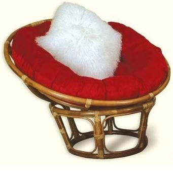 Papason Chairs New single rattan wicker pier papason lobster moon lounge chair red