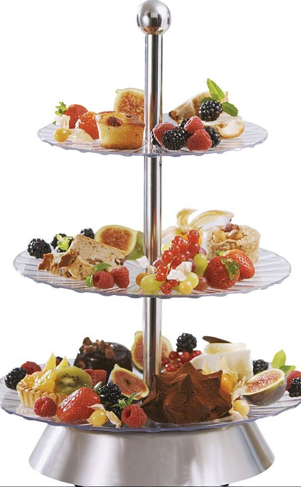 New Sensiohome Electric Rotating 3 Tier Party Platter