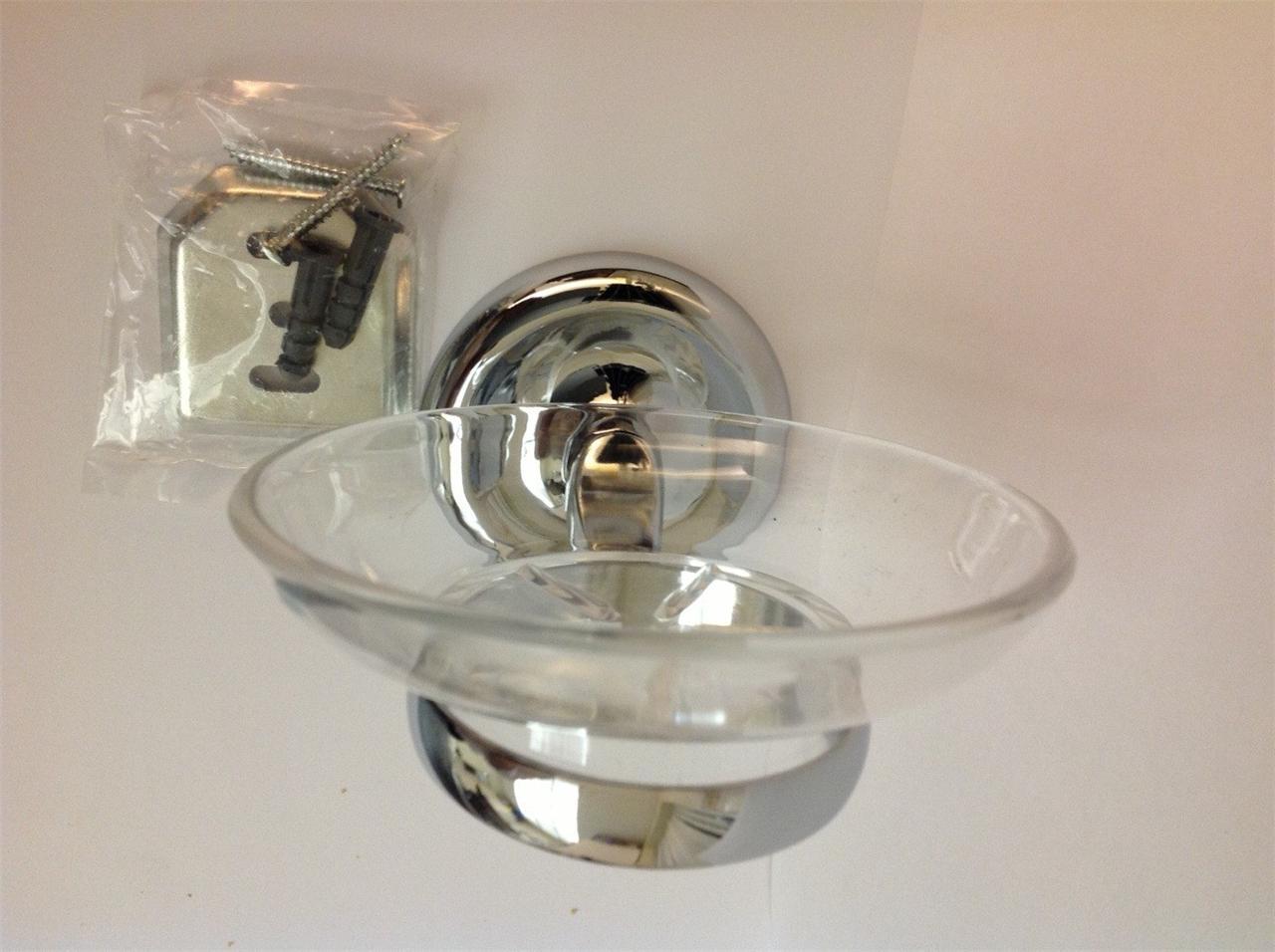 Chrome toilet roll holder soap dish holder glass Glass toilet roll holder