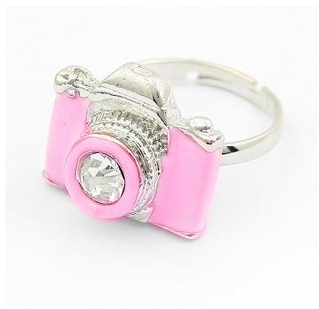 New-Fashion-Exquisite-Rhinestone-Camera-Retro-Rings-3-colors-option