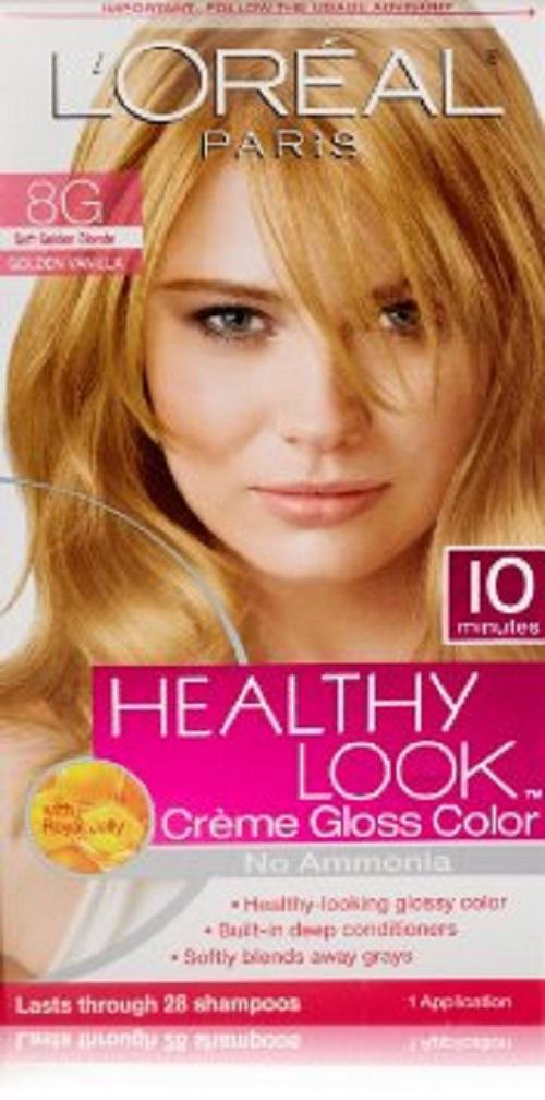 LOREAL HEALTHY LOOK CREME GLOSS HAIR COLOR NO AMMONIA- YOU ...