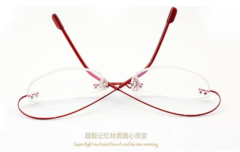 Rimless Glasses Adjusting : Unisex Ultra-light Rimless Eyeglasses Frames Flexible ...