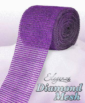 1 METRE LENGTH OF DIAMOND DIAMONTE MESH FOR WEDDING CAKE DECORATION CRAFT FLORAL