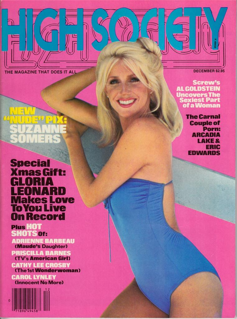 High Society Dec. 1979 Suzanne Somers Nude Gloria Leonard