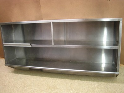 Stainless Steel Shelf Cabinet Hutch Storage Restaurant Business