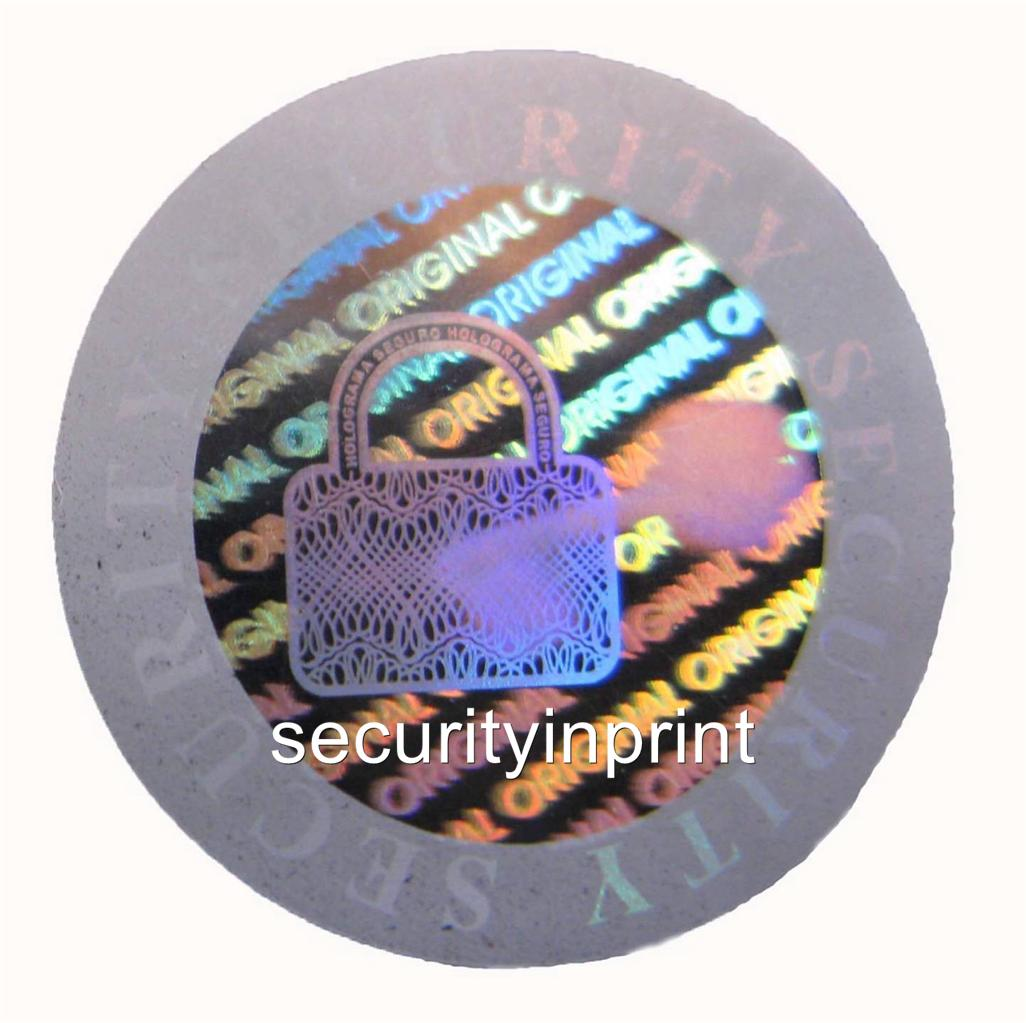 Hologram Silvers: Original Security Hologram Holographic Stickers Silver