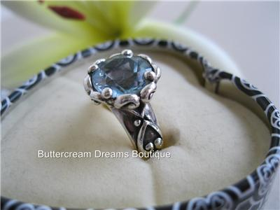 Brighton Ring Sterling Silver Heart Stone Size 6 Retired