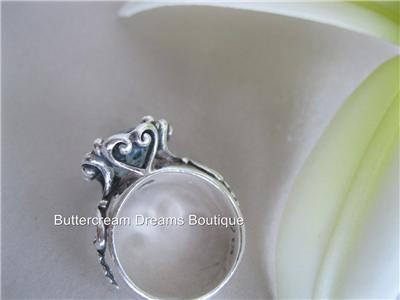 about Brighton Ring Sterling Silver Heart Stone Size 6 Retired Rare