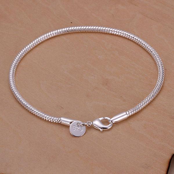 wholesale lot 5 10pcs silver snake rope curb figaro mesh charms bracelet bangle ebay. Black Bedroom Furniture Sets. Home Design Ideas
