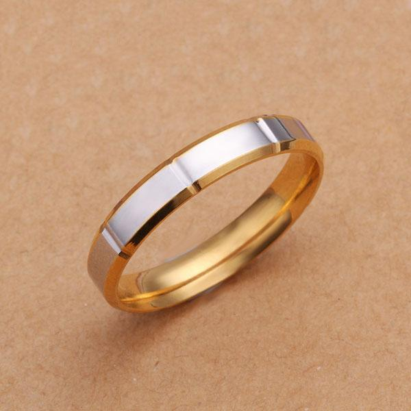 Mix 18K Gold Plated Men Women Wedding Engagement Band Ring US Size 6 7 8 9 10