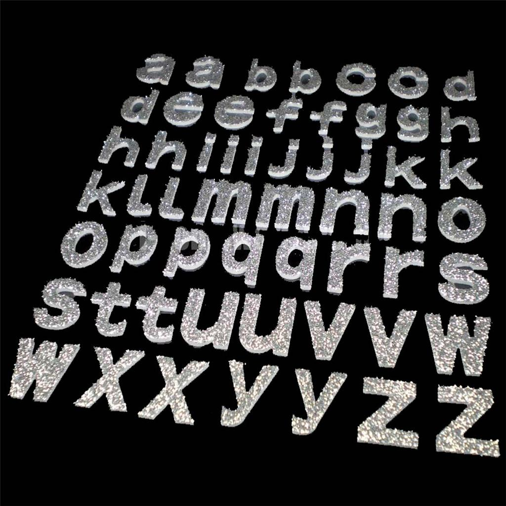 50 - 100 Pcs x ALPHABET LETTER Crafts Foam 3D Craft Self Adhesive Sticker