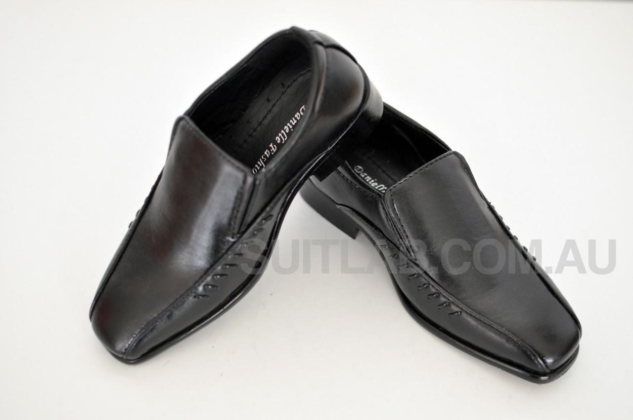 new boys black formal dress shoes ages 2 18 ebay