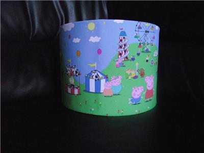 Peppa pig george pig fair 10quot drum ceiling lampshade for Peppa pig lamp and light shade