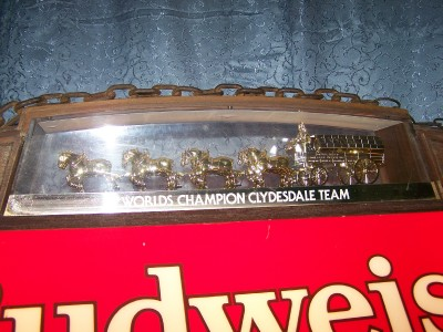 EBay - Budweiser clydesdale pool table light