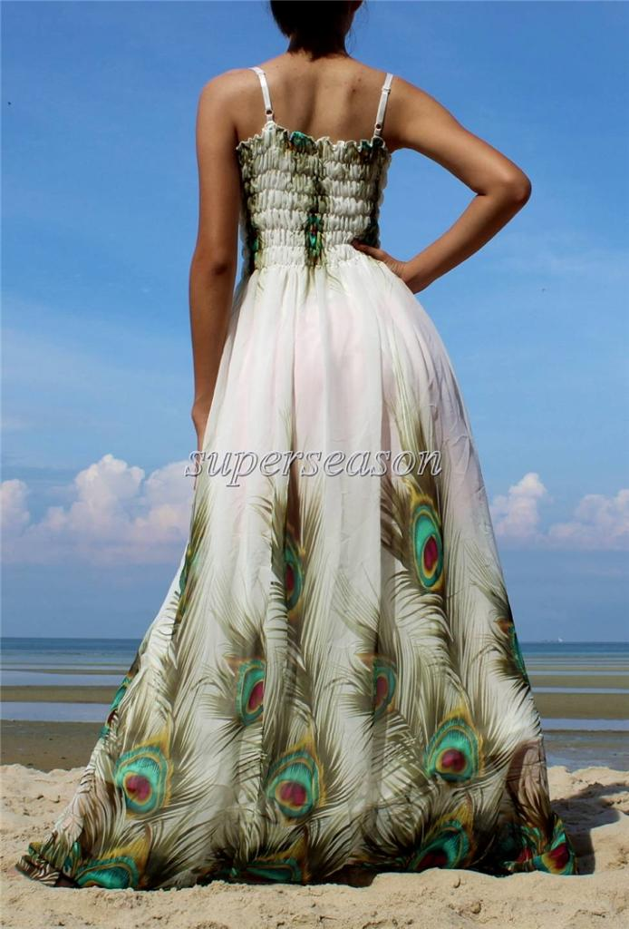 Plus size dress prom wedding beach guest party maxi white for White beach wedding dresses for guests