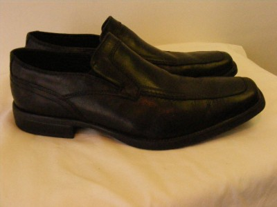 mens NXXT NUNN BUSH BLACK leather loafers driving slip ...