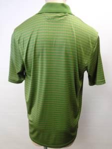 Mens under armour heat gear green microfiber polo shirt for Under armour heat gear button down shirt