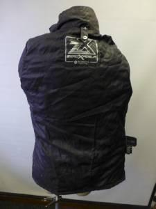 Womens Gray Zx Zeroxposur Zip Up Shell Coat Jacket Clean