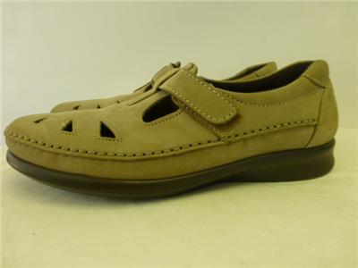 SAS Tripad Comfort ROAMER Shoes tan suede leather velcro Womens 8.5 M