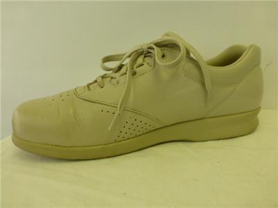 womens sas freetime shoes beige leather lace up shoes