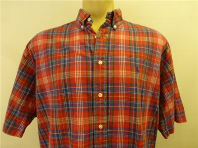 Ralph Lauren Polo Blake Red Plaid Long Sleeve Button Up
