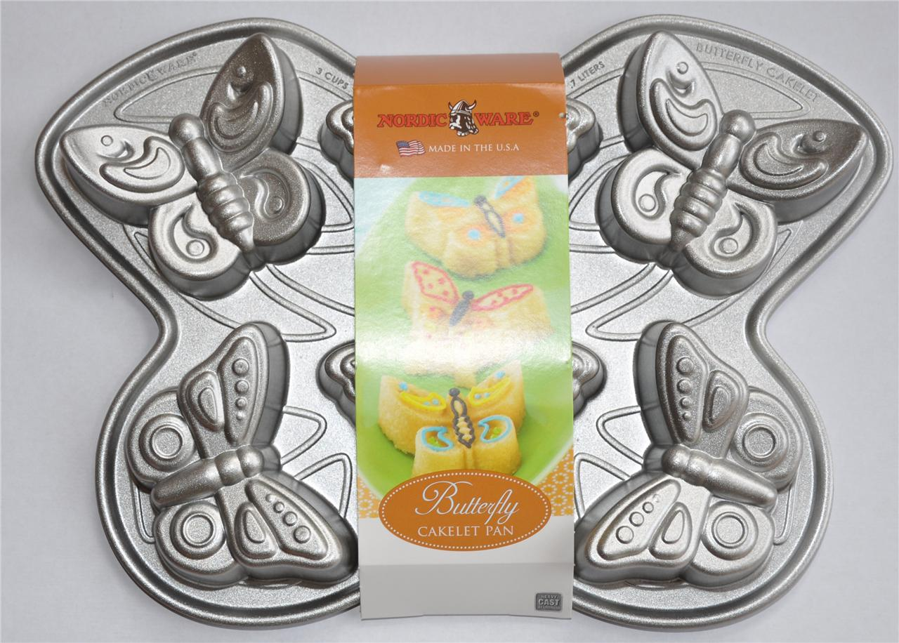 Butterfly Cake Pan Decorating Ideas : Nordic Ware Butterfly Cupcake Birthday Cake PAN TIN 1x...