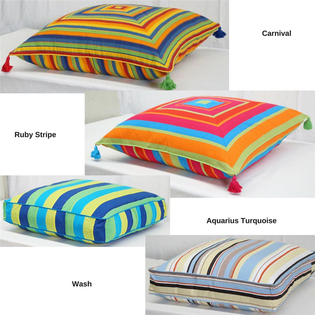 Floor Cushion Cover Blue Green Pink Orange Yellow Large Scatter Pillow Case New eBay