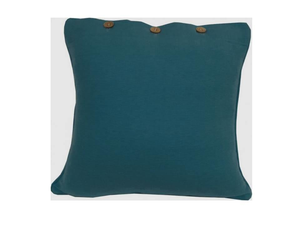 Cushion Cover Teal Turquoise Blue Green Cotton Sofa Throw