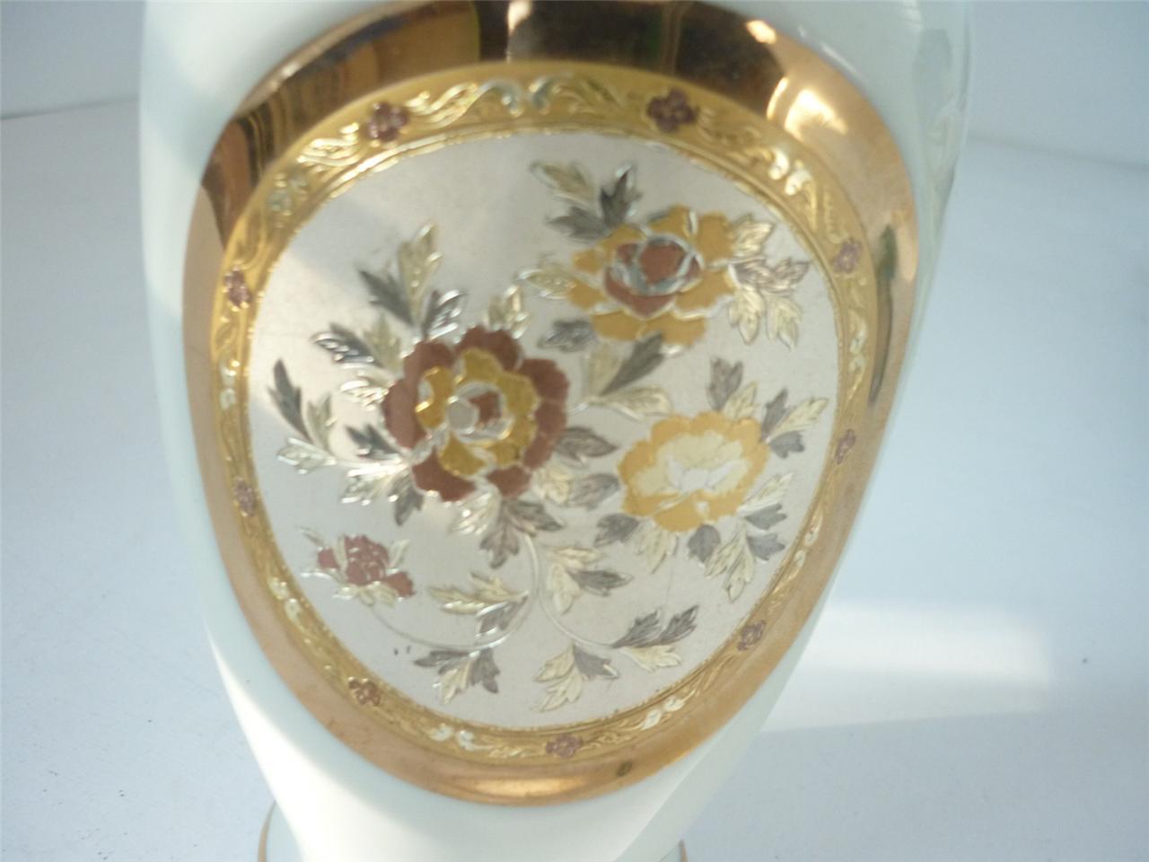 Vintage deco decorative art vase japanese chokin porcelain for Homewares decorative items