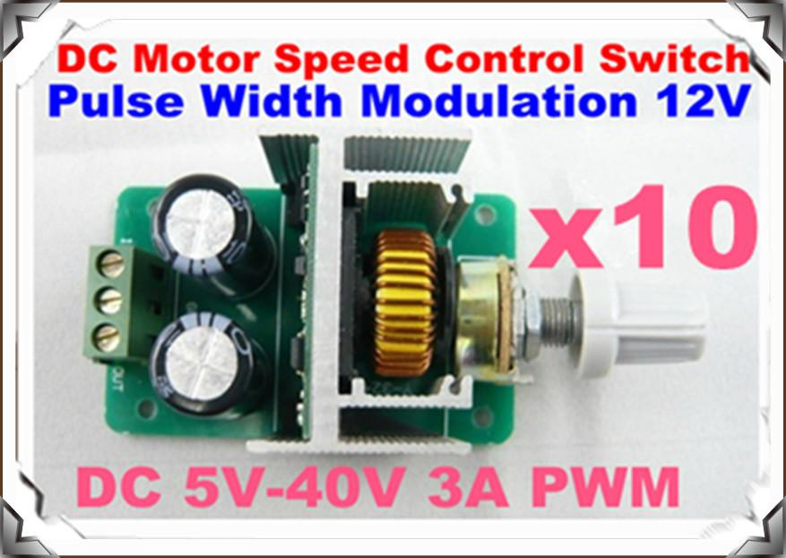 10 X Dc 5v 40v 3a Pwm Dc Motor Speed Control Switch Pulse