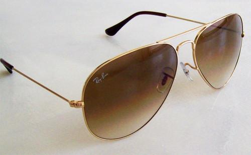 NEW AVIATOR RAY BAN RB3025 001 51 GOLD FRAME BROWN FADED ...