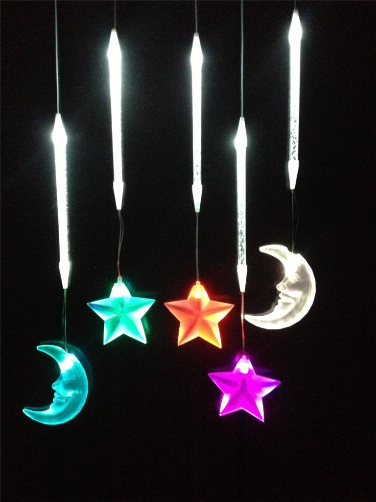 Moon and Star Drop Night Light