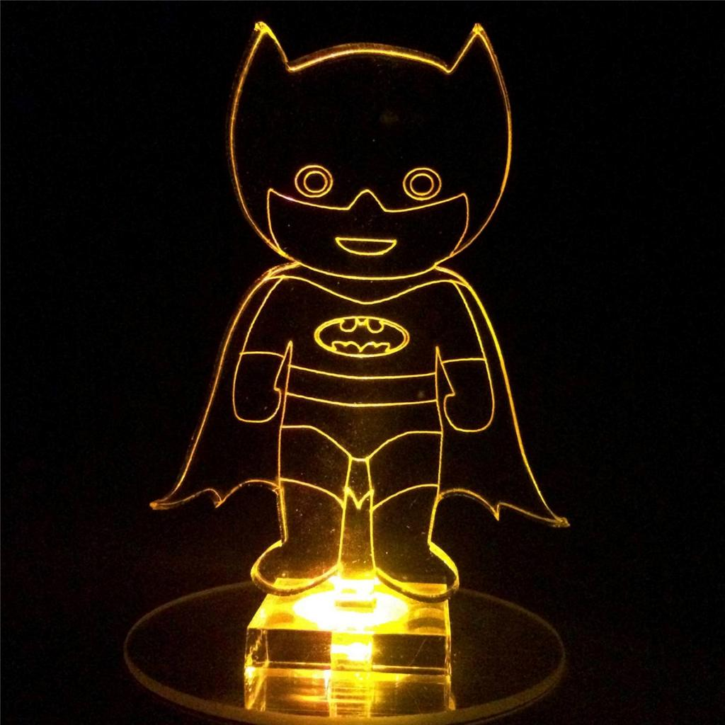Batman Superhero Flashing Night Light Small Novelty Gift