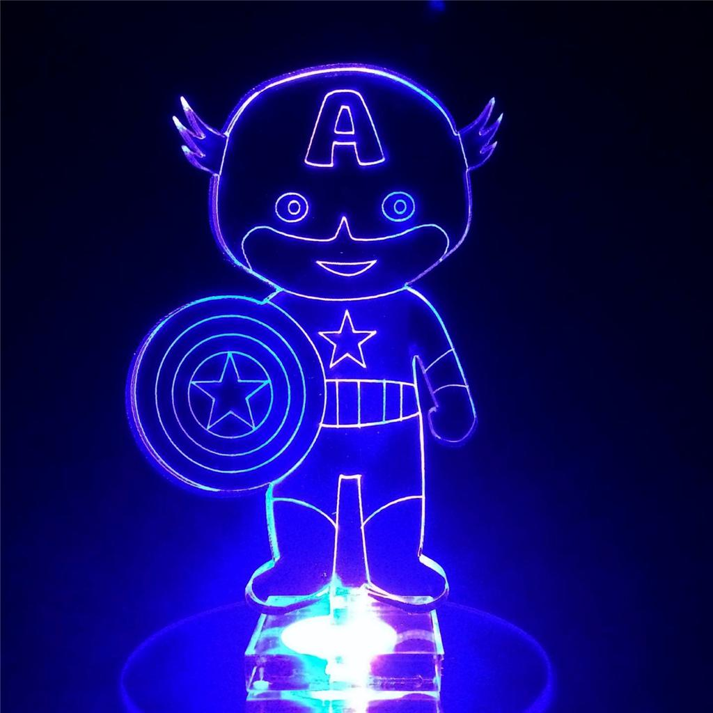 Captain America Superhero Flashing Night Light Small