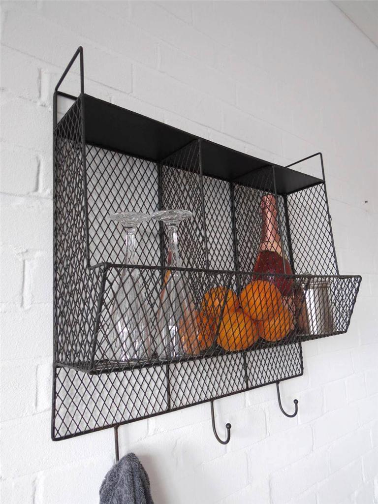 Kitchen Storage Metal Wire Wall Rack Shelving Display