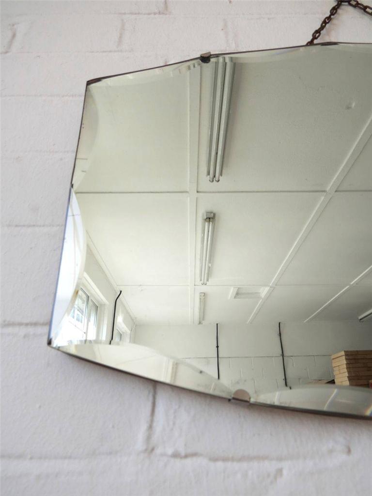 Vintage Bevelled Edge Wall Mirror ART Deco Beveled Edge Mirror : eBay