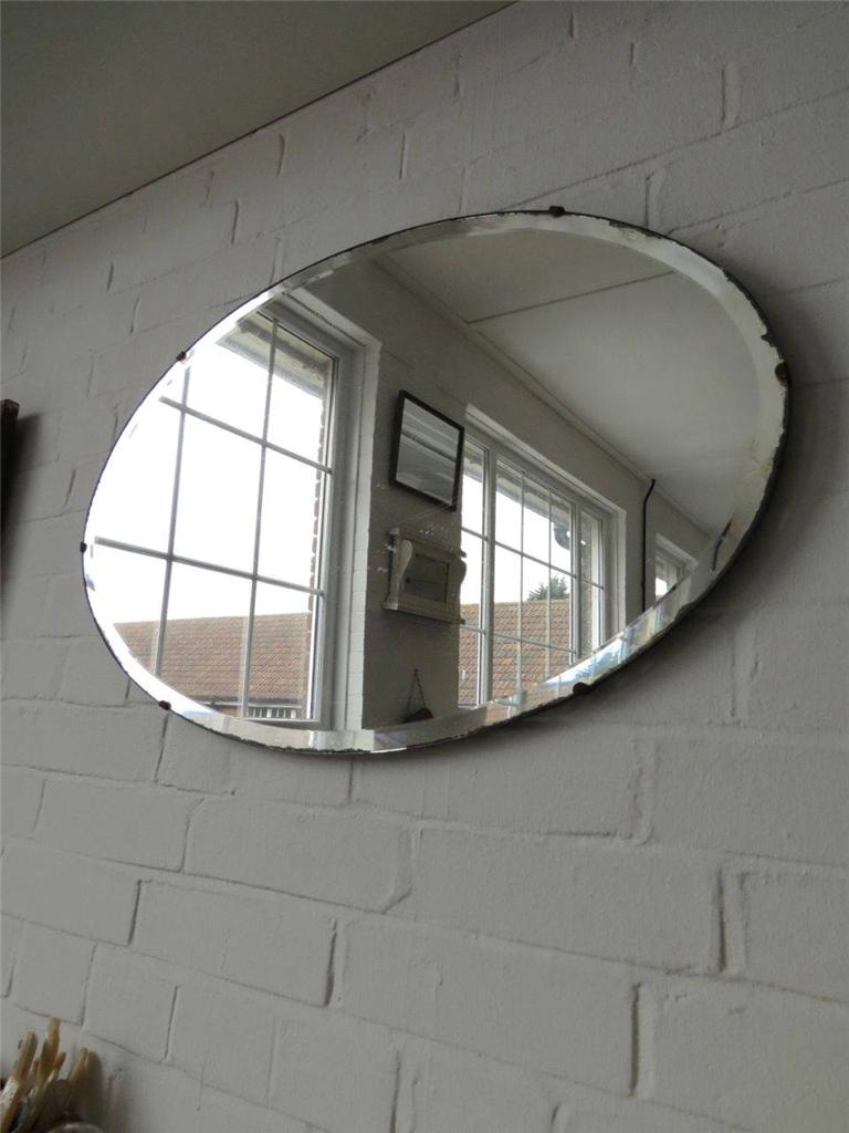Extra Large Oval Bevelled Edge Wall Mirror ART Deco Beveled Edge ...