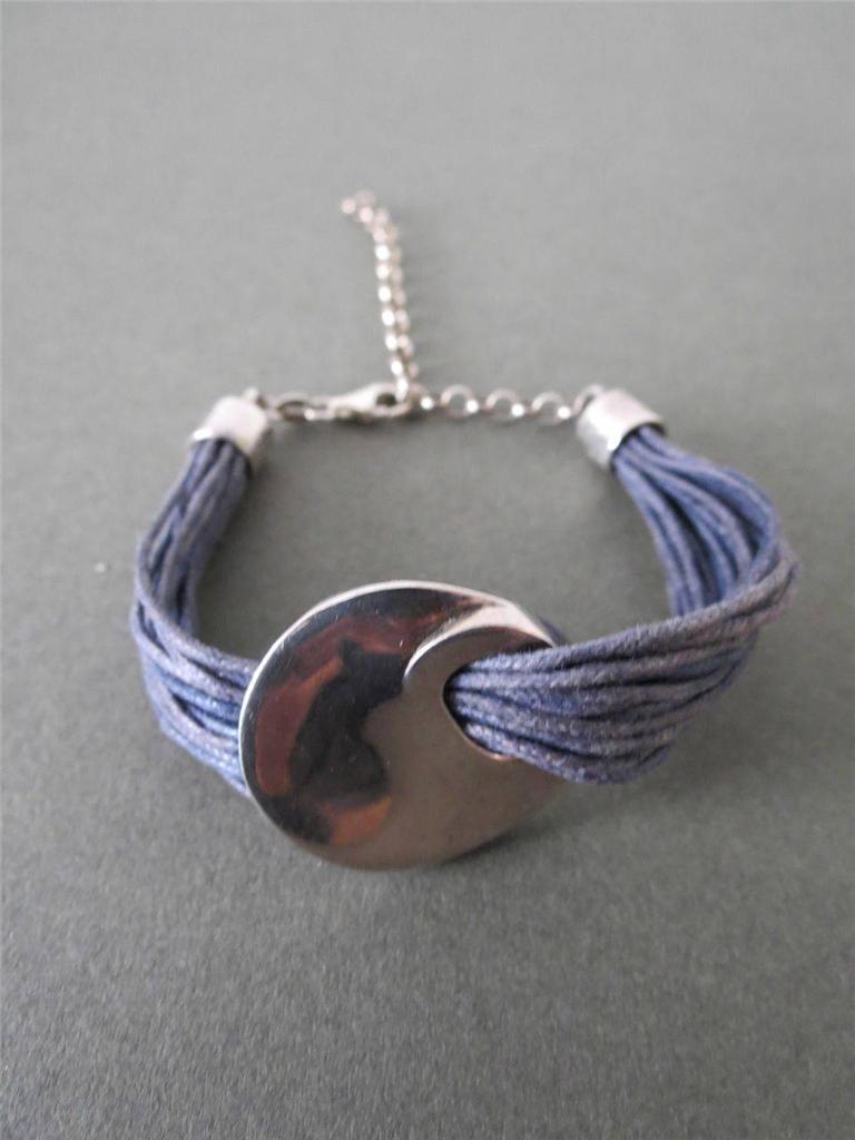 vintage modernist sterling solid silver rope bracelet